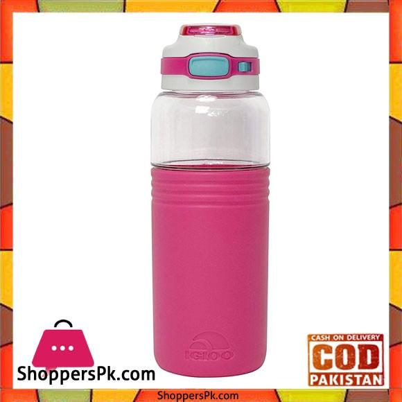 IGloo 36 oz Chugger Water Bottle Pink White #70146