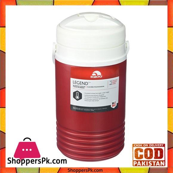 IGloo Legend Beverage Cooler Red 0.5 Gallon #04212