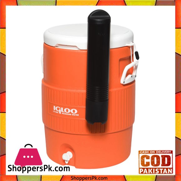 IGloo10 Gallon Seat Top Water Jug With Cup Dispenser #42021
