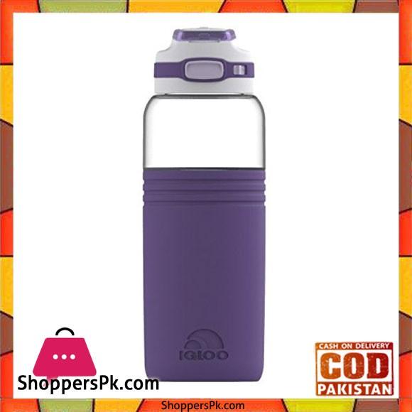 Igloo 36 oz Chugger Water Bottle Royal Purple White #70148