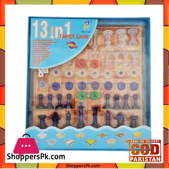 Just Toys 13 In 1 Family Game Board Game