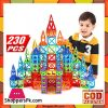 Mini Magnetic Designer Construction Set Model Building Toy Plastic Magnetic Blocks Educational Toys 230pcs