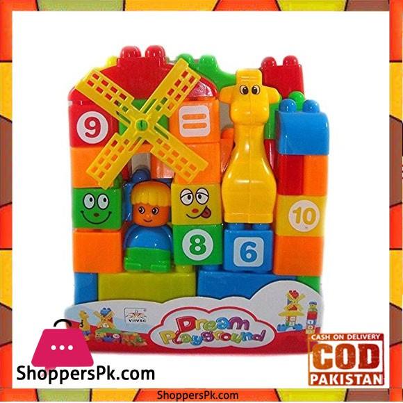 Toy Station 35 PC Blocks Set Bag D Ream Playground