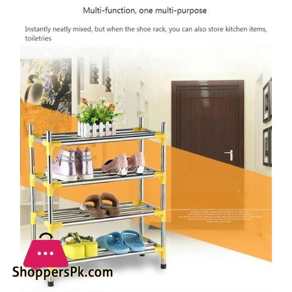 3 Layer Stainless Steel Shoe Frame Shoes Shelves