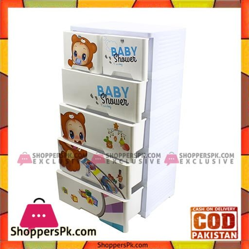 4+2 DRAWERS BLUE/WHITE BABY SHOWER 2652