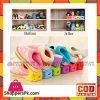 6pcs Display Rack Shoes Organizer Space-Saving Plastic Storage Rack Multi-color
