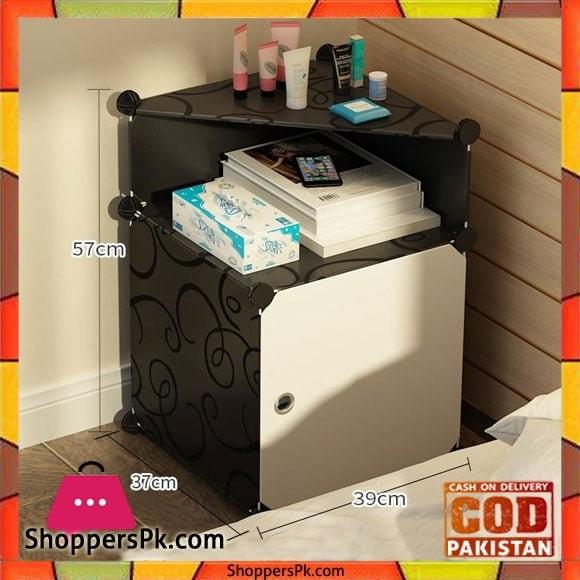 Bedside Table Multi-Storey Saving Diy Durable Cabinet