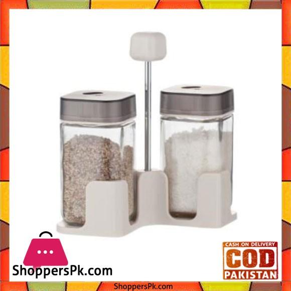 Brilliant Glassware 2 Jars Spice Rack - BR0142