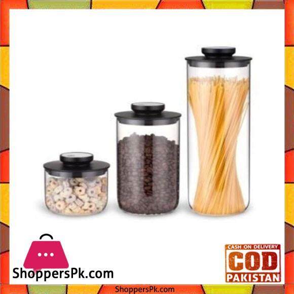 Brilliant Glassware 3Pcs Jar Set Rounde - BR0143