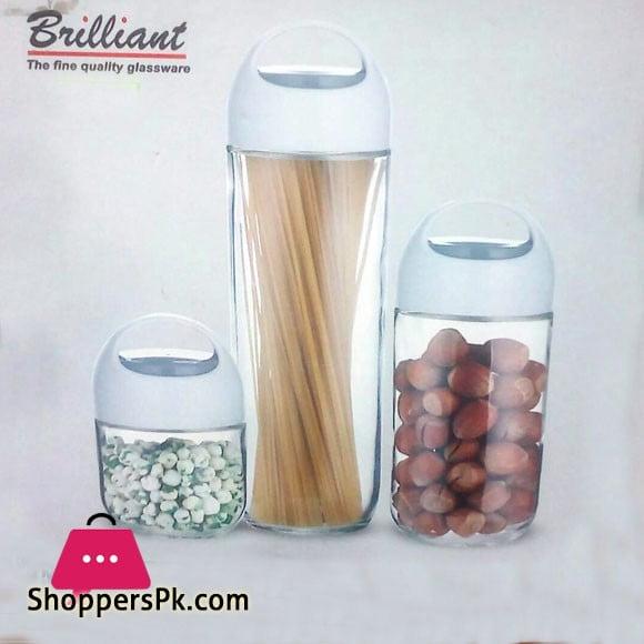 Brilliant Glassware 3pcs Storage Jar Set - BR0121