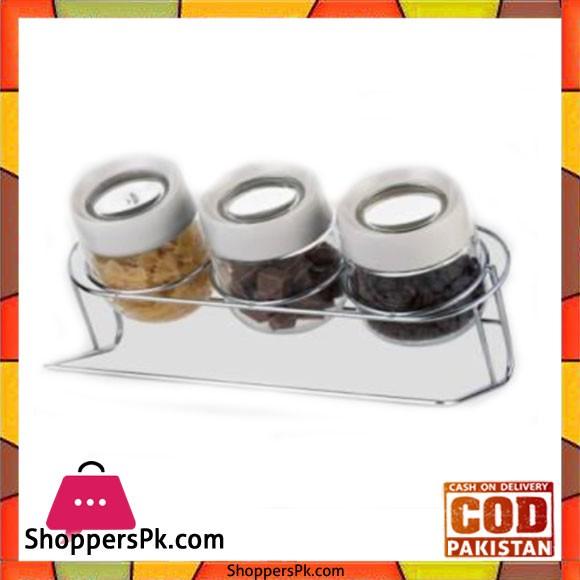 Brilliant Glassware 3ps Jar Set 450ml - BR0218