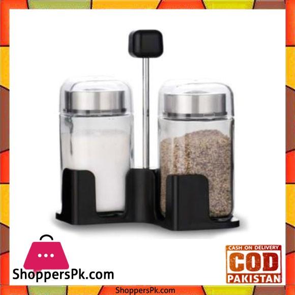 Brilliant Glassware Spice Rack 2 Jars - BR0133