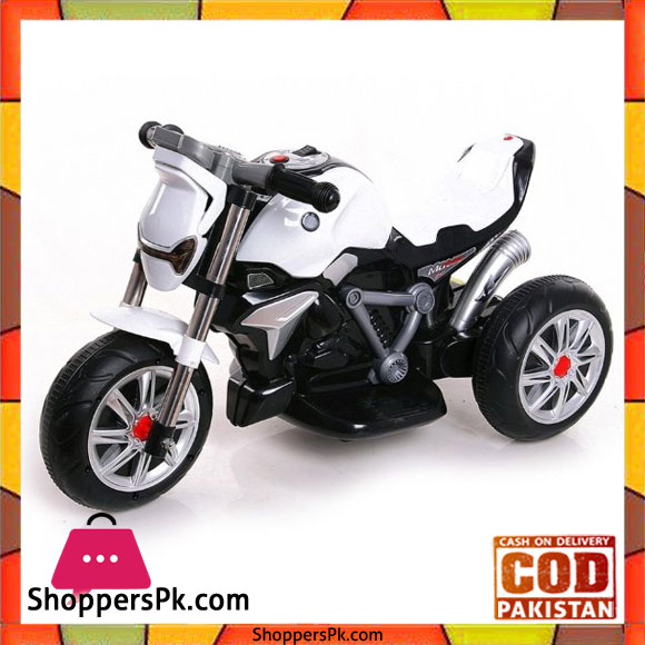 8c323d6d6a1 Children s BMW JMB3196 Roadster White 6V Battery Operated Bike for 1-5  Years Kids