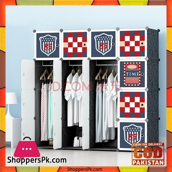 Football Club DIY Cube Cabinet 16 Door 3 Hanging