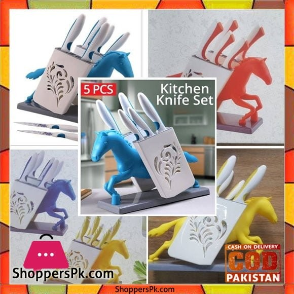 High Quality Sharp Knives with Cute Stand