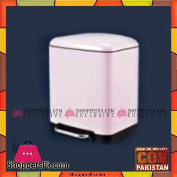 Home Fresh 6Ltr Square Pink SS Bin - HF0010