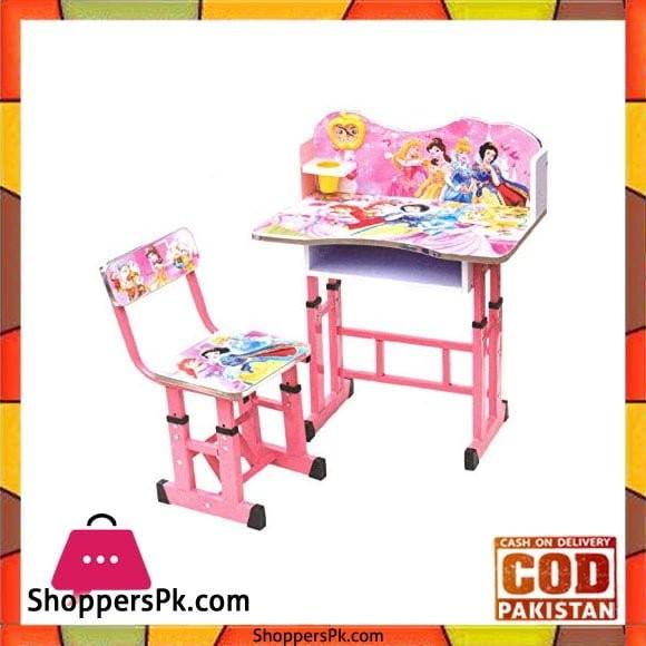 Kids Study Table And Chair Princess