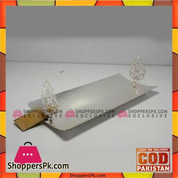 Queen Silverware Rect Hold Large Silver - QS0032