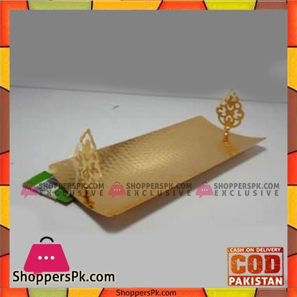 Queen Silverware Rect Hold Medium Golden - QS0033