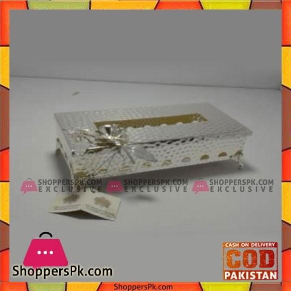 Queen Silverware Tissue Box Small - QS0046