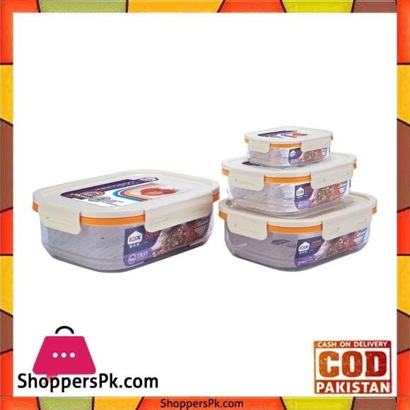 Rectangular Airtight Food Containers Four Piece