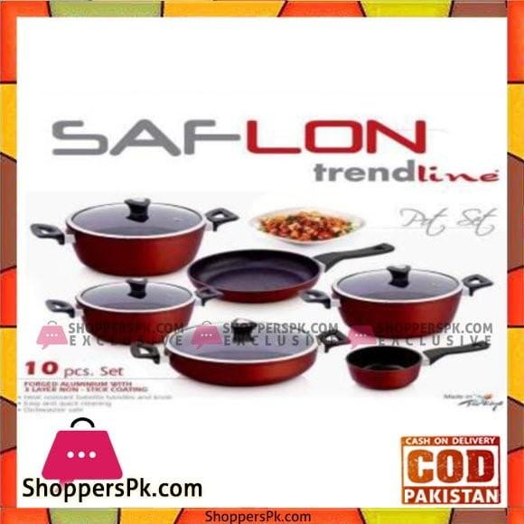 Saflon 10Pcs Golden Trendline Cook Set