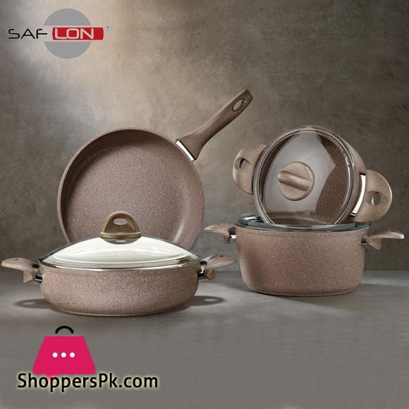 Saflon Granite Cookware Set - 7 Pcs