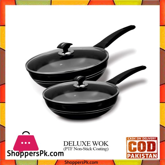 Sonex Deluxe Wok - PTF Non Stick Coating - 53009 - 26cm
