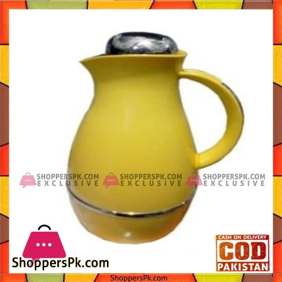 Taiwan Hotpot&Flask 1.0Ltr Silver+Yellow Thermos - 1210