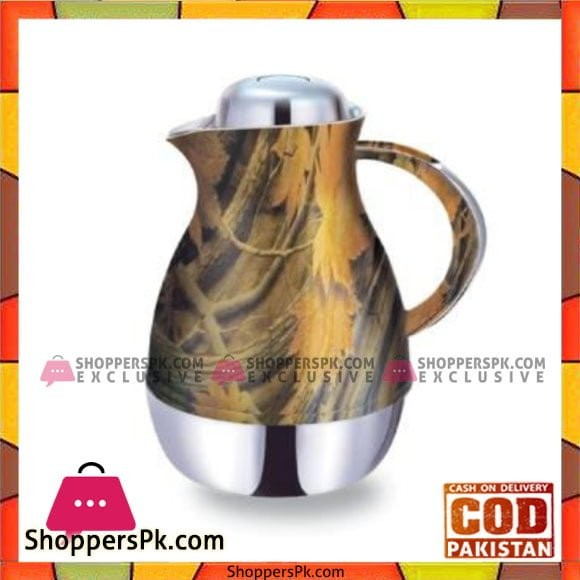 Taiwan Hotpot&Flask 1Ltr Flower&Silver Thermos - 1210