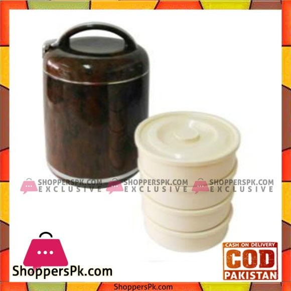 Taiwan Hotpot&Flask 3Ltr 4Tier Lunch Box Marbel - 769BW