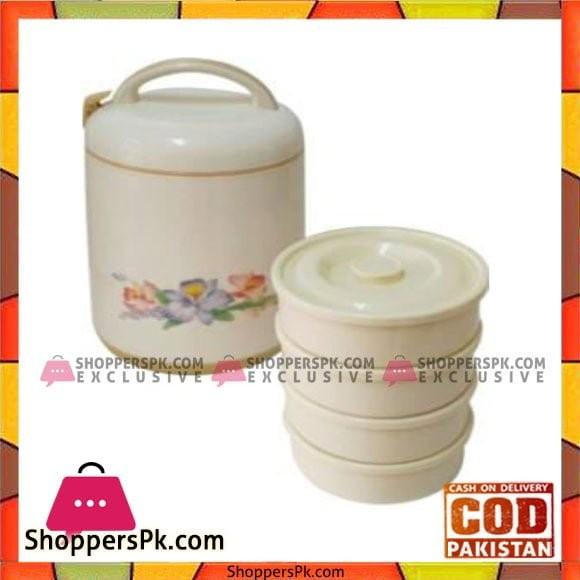 Taiwan Hotpot&Flask 3Ltr 4Tier Lunch Box Wheat Beidge - 769L