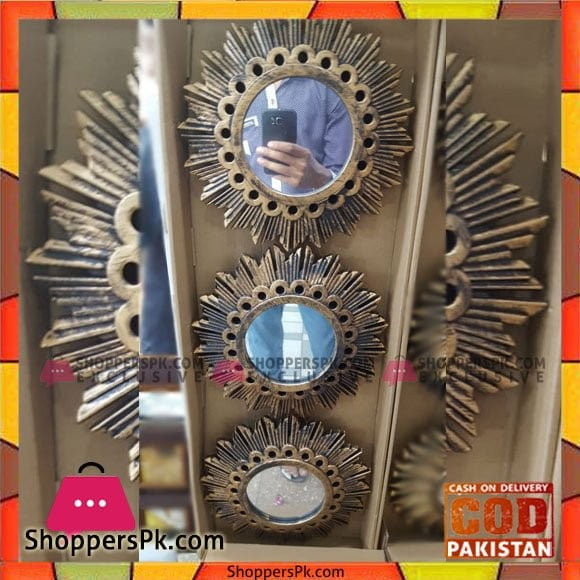 Wall Hanging Mirror Set 3 Pcs - 4568