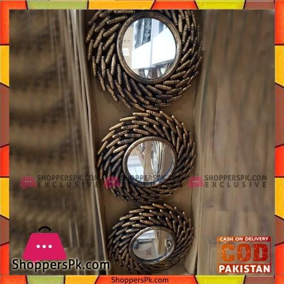 Wall Hanging Mirror Set 3 Pcs - 5485