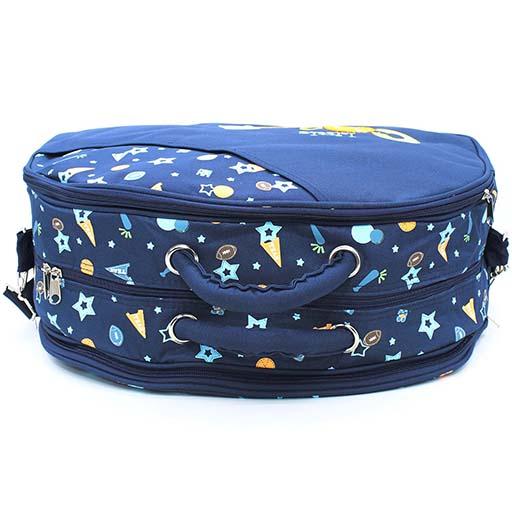 BABY BAG D SHAPE NAVY BLUE 360