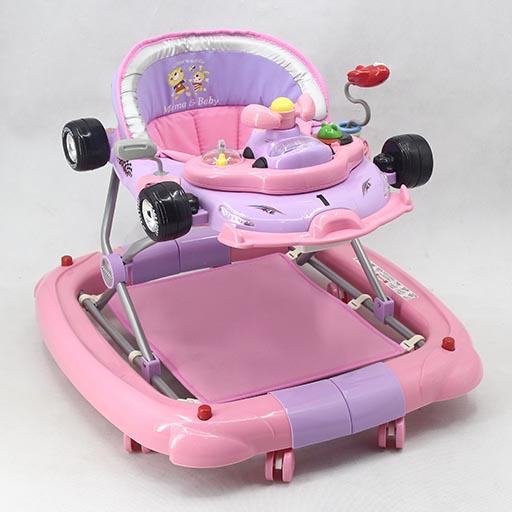 WALKER WITH ROCKER PINK PURPLE T1085H Babyace 2 IN 1 Multi-Function Baby Walker T1079 Taiwan Made