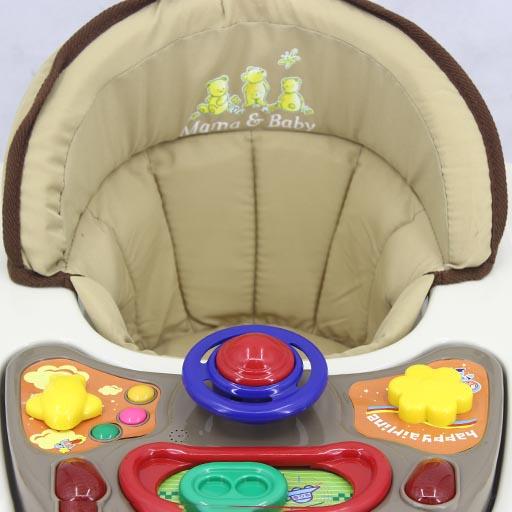 WALKER WITH ROCKER KHAKI BROWN T1078H Babyace 2 IN 1 Multi-Function Baby Walker T1079 Taiwan Made
