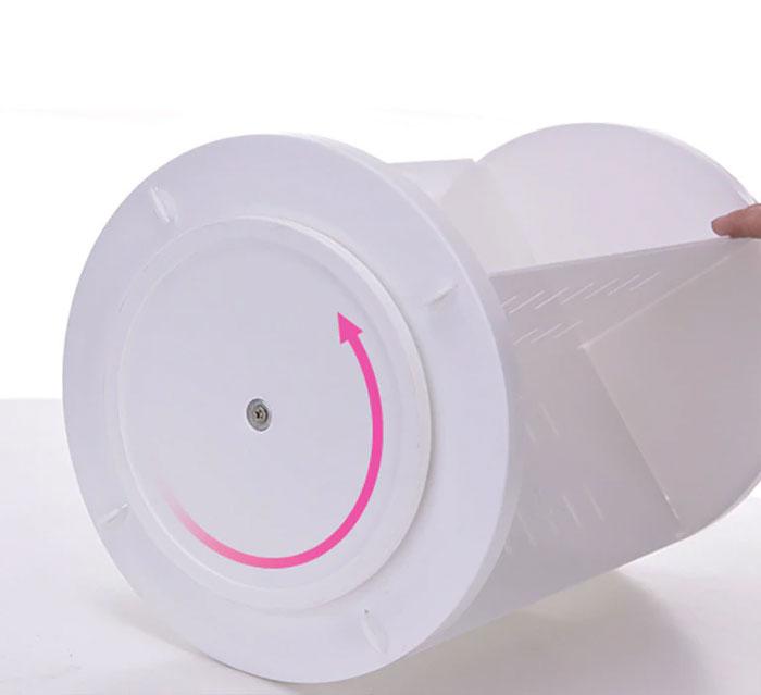 360 Degree Rotating Cosmetic Organizer Jewellery Box Lipstick Holder