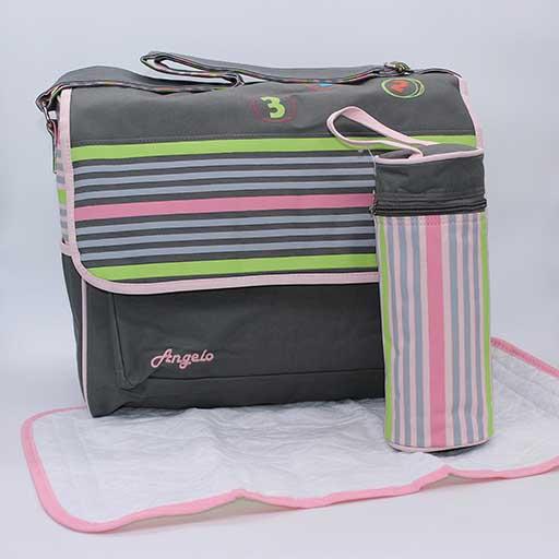 BABY BAG ANGELO MULTI COLOUR LINES 9028 M&B