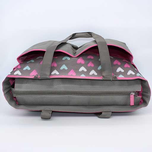 BABY BAG 3PCS HEART DARK GREY BB-999 M&B