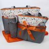 BABY BAG 4PCS ORANGE BB-999-AJ M&B