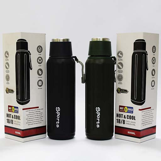 Sports Stainless Steel Thermos Vacuum Flask with Cup