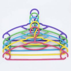 SHIRT HANGER 5PCS PACK SHINING MULTI COLOUR WITH LOCK 2538 M&B