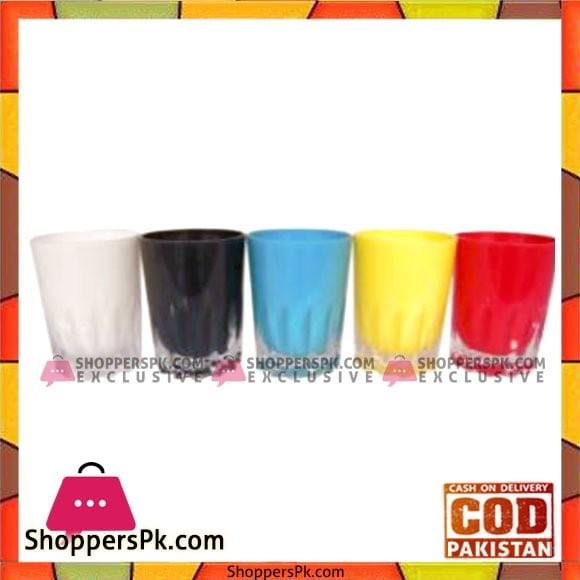 Acrylic Ware 6 Pcs Double Wall Glass Taiwan - 3709E0 - Made in Taiwan