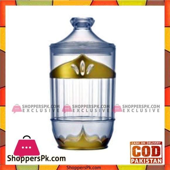 Acrylic Ware Gold Jar Big - Bh0136Ac - Made in Taiwan