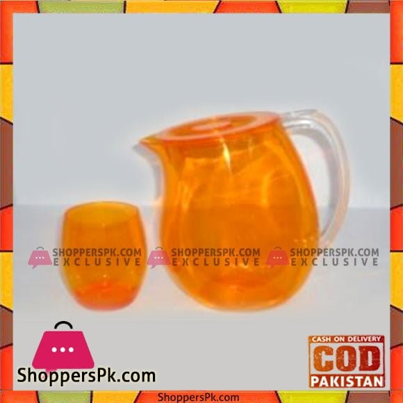 Acrylic Ware Orange Fiona 7 Pcs Water Set - Bh0168 - Made in Taiwan