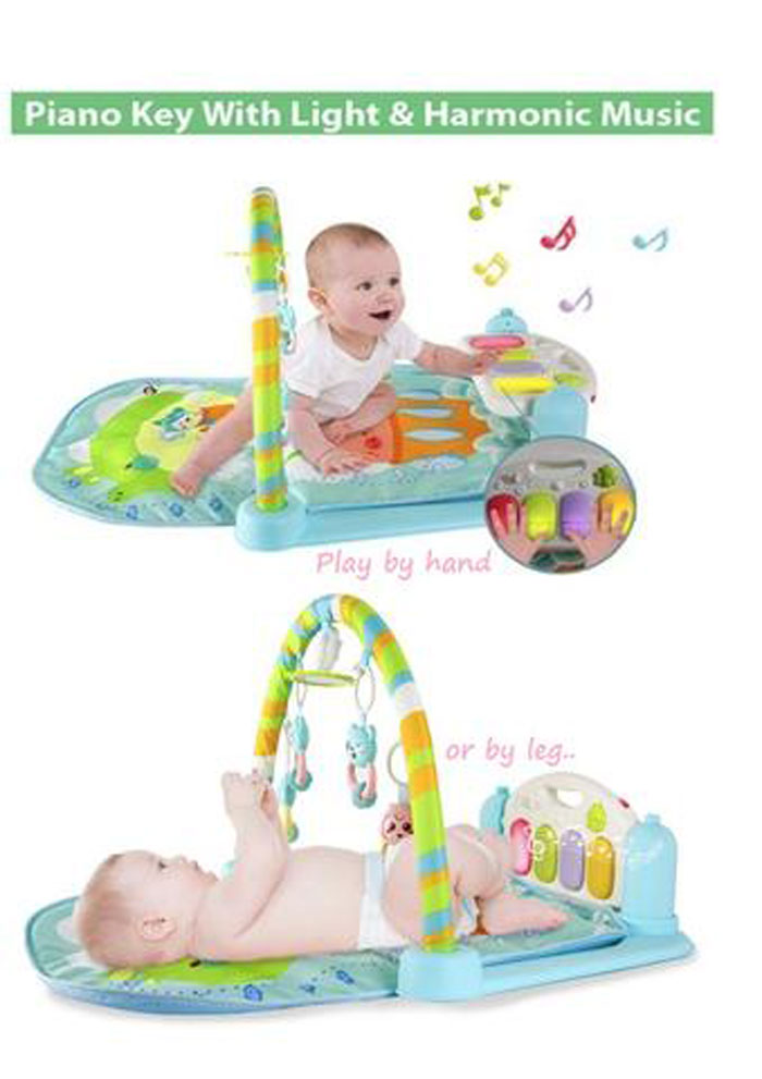 Baby Piano Gym Playmats 5 in 1 Baby Training Activity Toy Music & Light - BAY0130