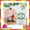 Battery Operated Home Decoration Bird Cage Parrots 3+ -Multicolour