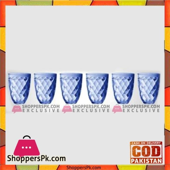 Fine Collection Deluxe Glass Blue - Bg34-6X1 - Made in Taiwan