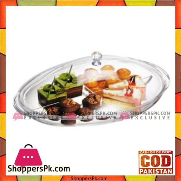 Fine Collection Oval Shape Tray W/Lid - 2530 - Made in Taiwan